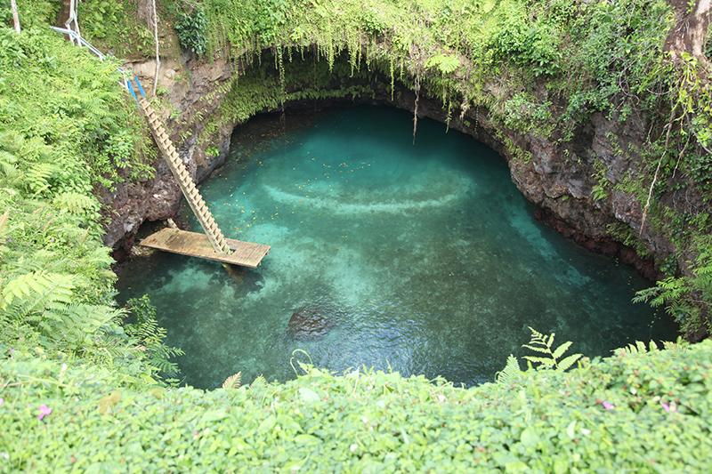 To Sua ocean trench in Samoa.
