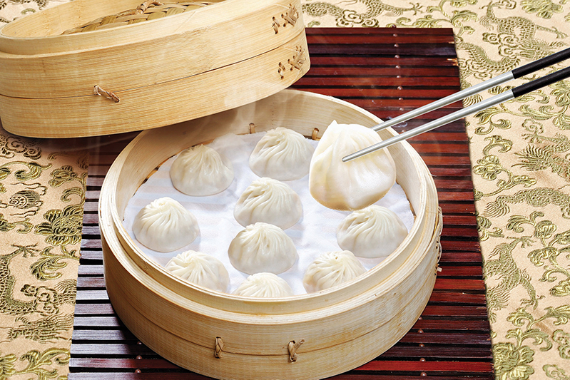 Soup dumplings at Din Tai Fung restaurant