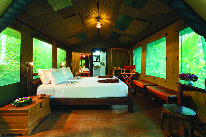 Stay in Thailand's first luxury tents at Elephant Hills.