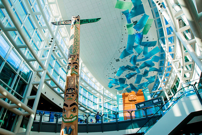 Interior of Vancouver International Airport