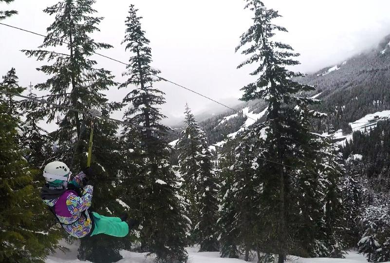Zip line in Whistler