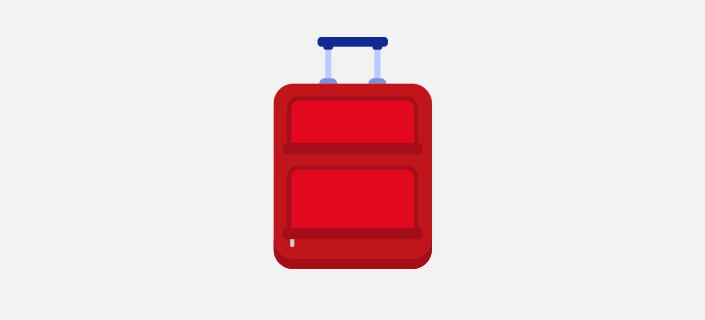 illustrated 23kg baggage suitcase