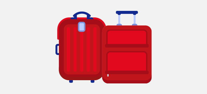 illustrated two 23kg suitcases