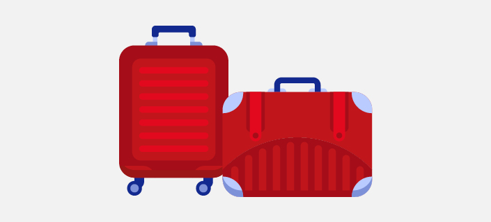 illustrated two 32kg suitcases