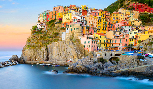 Sunset at Cinque Terre Italy