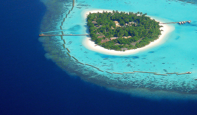 Two islands in Maldives