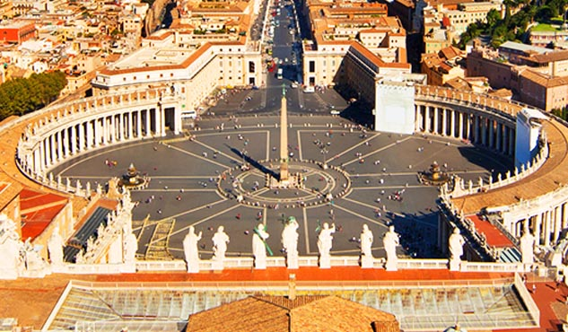 Rome seen from St. Peter's Basilica