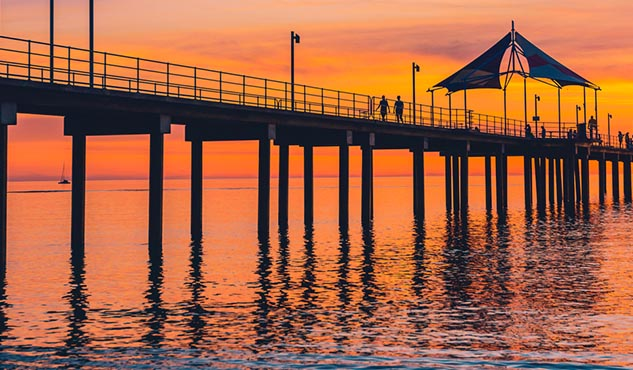 Adelaide Brighton Jetty at sunset