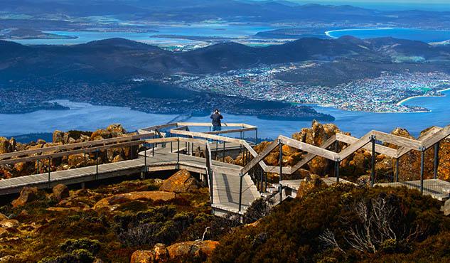 Mount Wellington in Hobart city