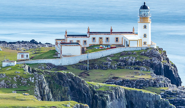 Great Britain, Scotland, Isle of Skye, Lighthouse at Neist Point